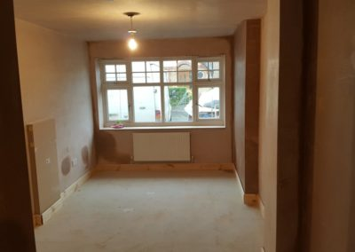 Garage-Conversion-Manchester-Chadderton-Radiator-In-And-Meters-Boxed-In